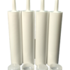 4 Empty Caulk Tubes, Fillable Sealant Caulking Tubes