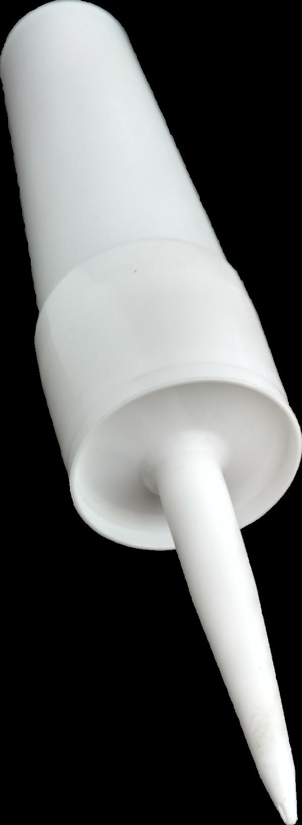 3 Reusable White Plastic Caulking Tubes (32oz / Quart Size) Single