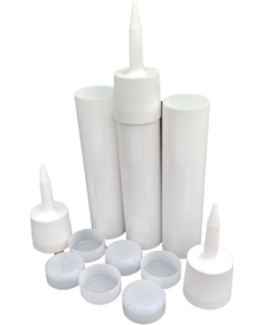 Reusable Empty Caulk Tube - REFILLABLE CAULKING Cartridge 10 oz. - 3 Pack - Made in USA